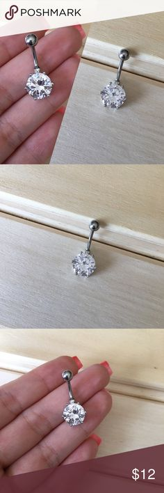 Silver Prong Gem Belly Button Ring Condition: Brand New Metal : Surgical Steel Size: 14 Gauge If you have any questions please leave a comment down below. Reasonable offers will be accepted I do not trade . -Belly Button Ring Navel Piercing 14G Surgical Steel Body Jewelry New- Jewelry Rings