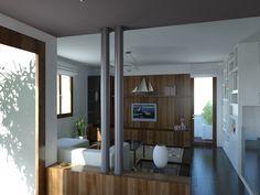 Casa M - Il soggiorno visto dall'ingresso             - Massimo Rinaldo architetto -