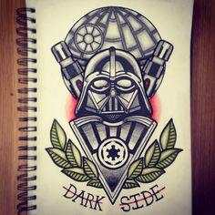 Darth Vader tattoo design