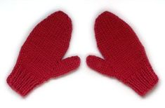 Free Pattern: Easy 2 Needle mittens . Multisizes. #freepattern #knittingpattern #accessories