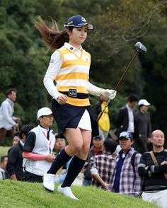 三ケ島かな17番「目玉」ボギーでしのぎ1打差3位  - ゴルフ写真ニュース : 日刊スポーツ Girl Golf Outfit, Cute Golf Outfit, Girl Outfits, Yamaha Golf Carts, Golf Theme, Girls Golf, Golf Drivers, Golf Fashion, Golf Shoes