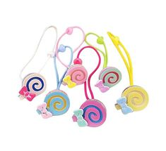 Set of 12 Colorful Design Hair Tie Bands Rubber Ropes Hair Rings Lollipops ** Check this awesome product by going to the link at the image.(This is an Amazon affiliate link and I receive a commission for the sales)