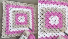 Wonderful blanket! Pastel colors make it for a wonderful gift for any baby shower, but two or three of them in favorite colors of your friends or family will be also adorable. You can easily customize this pattern. Don't hesitate to use any colors you want or use a different color in every few rows.