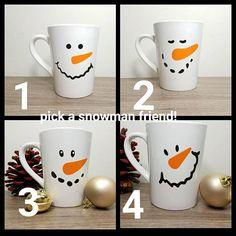 Snowman Snowman Mug Snowman Cup Christmas Cups Christmas Christmas Cup, Christmas Crafts For Kids, Diy Christmas Gifts, Kid Crafts, Christmas Ideas, Snowman Cup, Cute Snowman, White Nail Designs, Cool Nail Designs