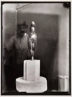 Brancusi in his studio... photographed by Nancy Cunard 1928
