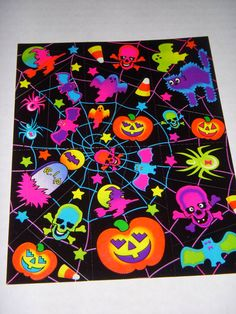 LISA FRANK stickers  S129 Halloween Skulls Spiders by 4JOY2YOU