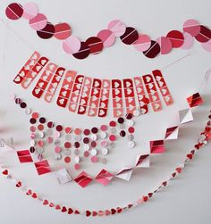 Lovely Garland For Valentine Day Decorating Ideas With Diy Paint Chip Garlands For Valentine's Day Brit Co.
