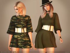 Oversize Dress for The Sims 4