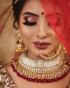 If you are going to be a bride soon and already know what you'll be wearing on your functions, then the next step is getting the perfect wedding makeup. Here are some Indian bridal makeup images to help you pick what you want. Indian Wedding Makeup, Asian Bridal Makeup, Bridal Makeup Looks, Indian Wedding Outfits, Indian Bridal, Indian Makeup, Indian Weddings, Wedding Dresses, Arabic Makeup