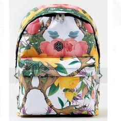 Beautiful floral backpack Even more beautiful in person! Very gently used-- Ask for pix of actual pack Bags Backpacks