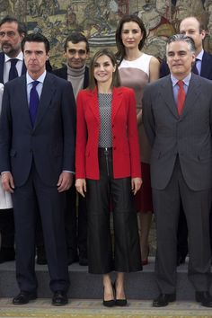 Queen Letizia of Spain Photos - Queen Letizia of Spain Attend Audiences At Zarzuela Palace - Zimbio