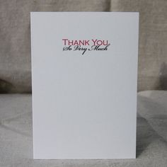 I'm selling Thank You So Very Much Card - A$3.00 #onselz Paper Dolls, How To Find Out, Stationery, Greeting Cards, Place Card Holders, Things To Sell, Paper Mill, Stationery Set, Office Supplies