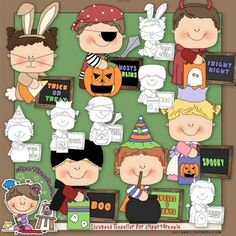 Halloween Messages 1 Clip Art & Digital Stamp Set by Alice Smith