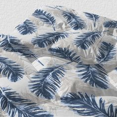 Blue Feathers Duvet by artis, julia grifol #feathers #blue #duvet #cover #pattern #design #bed #uneekee