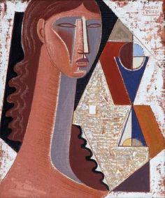 MARIO TOZZI (ITALIAN, 1895 - 1979)  Figura - 1973 #MarioTozzi #Tozzi #art #cubism #contemporary #contemporaryart #visual #visualart