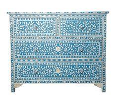 Intarsien Kommode aus Perlmutt-Steinchen Style-Heaven.com - Wohnaccessoires und Geschenke online kaufen