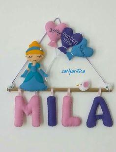 Felt Cinderella name banner https://www.facebook.com/sanjarilica