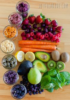 """I made these slightly-chewy rainbowy snack """"drops"""" for my kiddos using nothing but fruits, veggies, coconut butter, my trusty vitamix 750 (have I mentioned it yet? No? I LOVE it.), and my fantabulous Excalibur dehydrator. Got veggies? Got a blender? Got a dehydrator (or possibly an oven on low temp, but I haven't tried that)?(...)"""