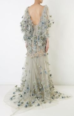 DesertRose,;,Featured Dress: Marchesa; Via www.farfetch.com; Evening dress idea,;,