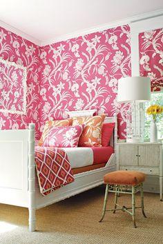 Tropical pink bedroom by Naken Interiors