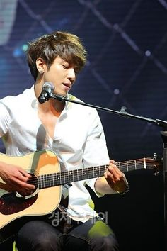 Jung Yong Hwa. Wish he'd do another drama but I guess I'll be content listening to his music.