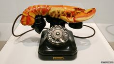 A Salvador Dali sculpture entitled Lobster Telephone made in 1936 is seen on display at the Tate Modern art gallery, London Sigmund Freud, Freud Frases, Tate Modern Art, Modern Art Movements, Salvador Dali, Surrealism, Sculpture, Telephone, Art Gallery