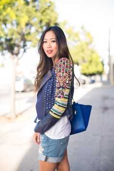 The Not So Basic Basic. | Song of Style - that jacket!!