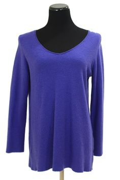 Eileen Fisher VNeck Waffle Weave Tunic Sweater Size s
