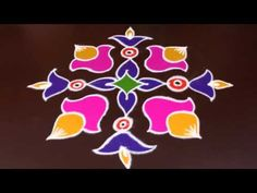 Sankranthi muggulu to 1 dots) Happy Diwali Rangoli, Diya Rangoli, Rangoli Ideas, Indian Rangoli, Simple Rangoli, Small Rangoli Design, Rangoli Designs Images, Rangoli Designs Diwali, Beautiful Rangoli Designs