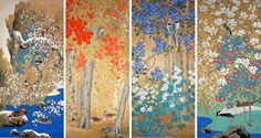 荒木十畝 四季花鳥