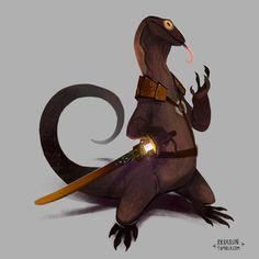 RPG Reptiles. Fun fantasy characters I've been making through the past few months! Which one is your favorite?