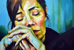 ARTFINDER: Not Really, No by Sal Jones - This piece is from a series of paintings focusing on female lead characters from European crime dramas. I wanted the hands in the foreground to lead the view...