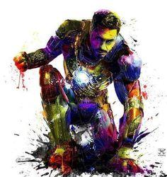 IronMan splatter art