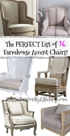 Do you love Farmhouse Accent Chairs that make a statement? These gorgeous chairs will be the focal point of your living room. They are stunning. #neutraldecor #farmhouseaccentchairs #farmhouseaccentchair #farmhousefurniture #farmhousedecor #neutralhome #whiteaccentchair #farmhousewingchair