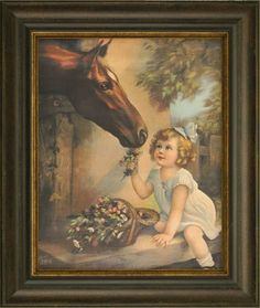 """""""In Clover"""" by Irene Patten Print Pictures, Animal Pictures, Pin Up Art, Drawing For Kids, Irene, Ephemera, Canvas Frame, Eyes, Children"""