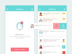 Hi Guys,  Working on a social mobile app, got a chance to design few samples of notification screen.  The idea is to keep things simple and detailed as possible.  Please don't forget to check real ...