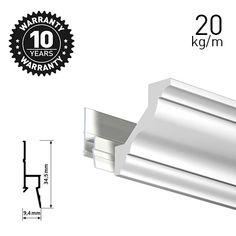 Artiteq Deco Rail White Primer Picture & art hanging DIY solutions in the UK. Picture Rail Hanging, Hanging Art, Picture Wall, Ceiling Coving, Wooden Easel, Simple Pictures, Deco, Picture Rail, Baseboards