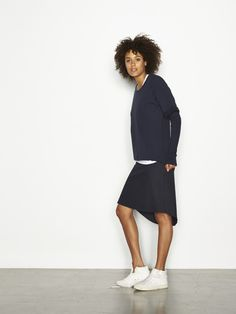 Sweater night, soft skirt. 10days Amsterdam.