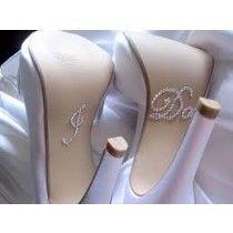 "Adesivo para sapato da noiva "" I Do"" ."
