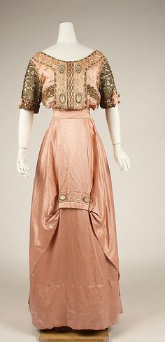Dress, Evening     ca. 1909