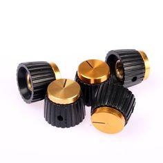 5 Pack Gold Cap Amplifier Knobs for MARSHALL Amp JCM 800 900 2000 JMP Plexi