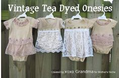 DIY: Tea Dying onesies - a super simple sewing project to make for a newborn baby.
