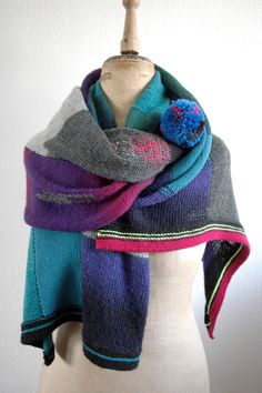 WRAP / STOLE  Knitting Darning Mending Visible by spacecurry