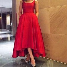 Cool Evening Dresses plus size Red Hi-Lo Arabic Cheap Prom Dresses with Pockets 2017 A Line Scoop Plus Size For... Check more at http://24myshop.tk/my-desires/evening-dresses-plus-size-red-hi-lo-arabic-cheap-prom-dresses-with-pockets-2017-a-line-scoop-plus-size-for/