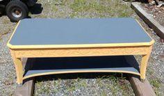 Refurbished engraved coffee table.