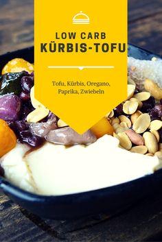 Leckeres lowc carb Rezept für eine Kürbis Tofu Mischung