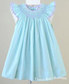 NWT Petit Ami Turquoise Blue Smocked Bishop Dress 2T 3T 4T Toddler Girls #PetitAmi #DressyEveryday