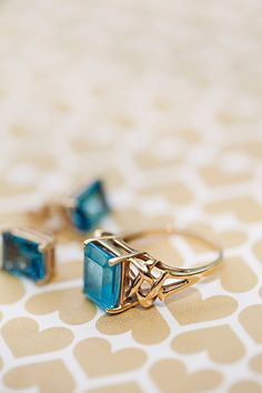 lovely blue gem // photo by Clayton Austin // http://ruffledblog.com/new-york-lakeside-wedding