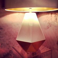 Gold lamp @Lamps Plus & @Robert Abbey #lighting #gold