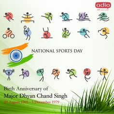 On The Occasion of #NationalSportsDay🇮🇳, We salute, congratulate & extend our best wishes to all #sports-persons who have made #India proud.🙂 #advertising #creativity #adverting #socialmedia #radioadvertising #printingmedia #televisionadvertisement #digitalmarketing #digitalmarketingagency #blogger #agency #creativeagency #onlinemarketing #marketing #business #marketingdigital #branding #ads #google